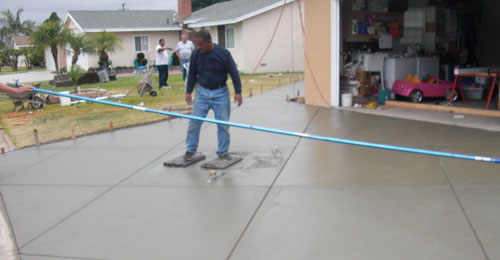 how to break a pre-cast concrete sidewalk slab