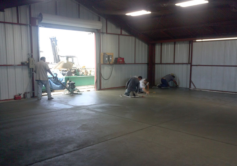 Factory Floor Concrete Overlay