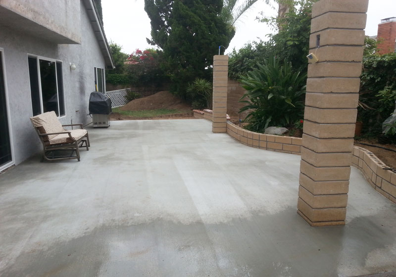 Custom Concrete Patios Brea, CA