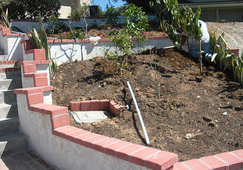 Block Planter Wall in Yorba Linda, CA