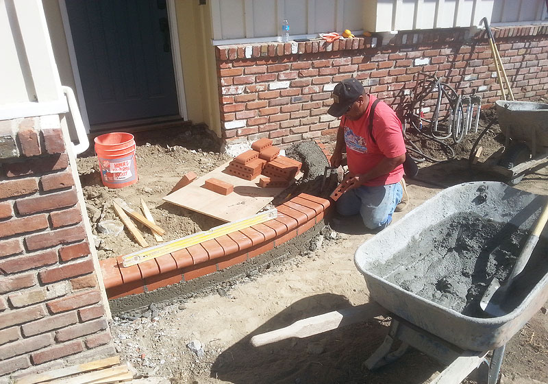 Front Step Brick Installation Temecula