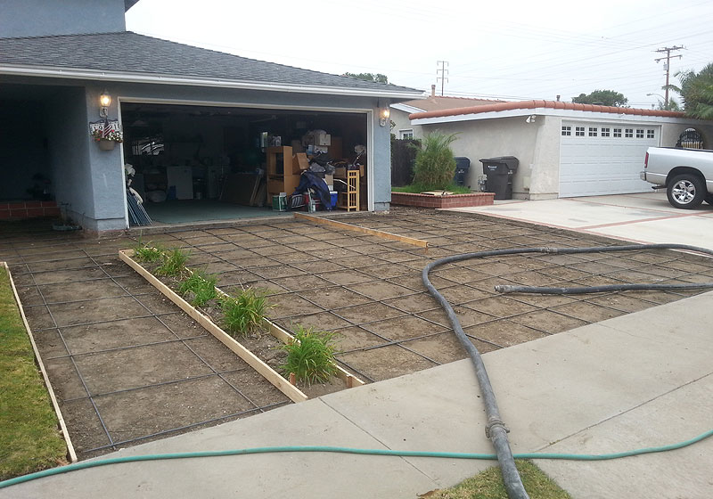 Decorative Concrete Driveway Huntington Beach